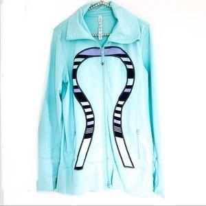{LULULEMON} In Stride Jacket Zip 4 Blue Stripe